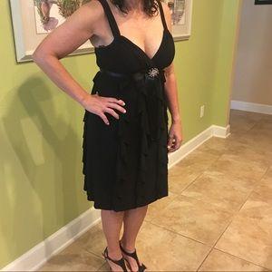 Black ruffle classic dress